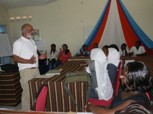 Prof Patel at Pwani University