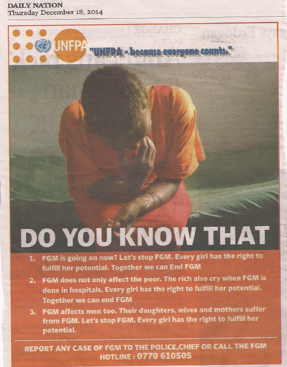 UNFPA advert to report
