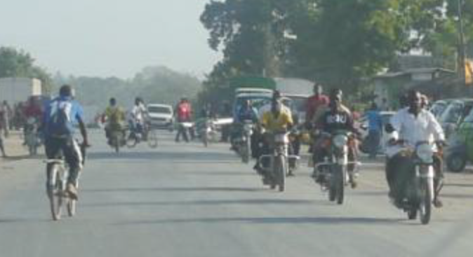 Motorbikes on Kilifi highway