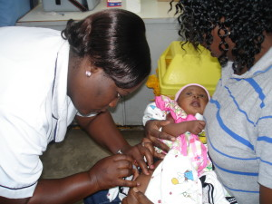 PCV-10 immunisation. Photo from KEMRI-WTRP