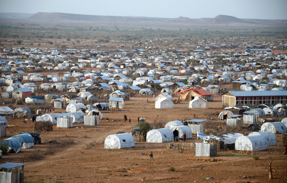 Tents in Dadaab, Kenya.