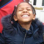 My daughter having a good laugh
