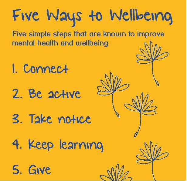 Five ways to mental well being
